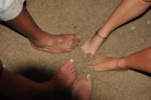 Maui feet in sand